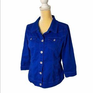 Bandolino Jean jacket - 3/4 sleeve - Blue - Med